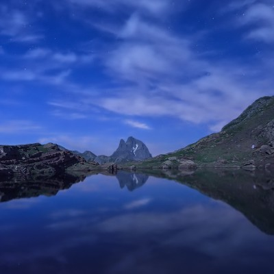 Midí D´Ossau en hora azul © 2015 franMoreno