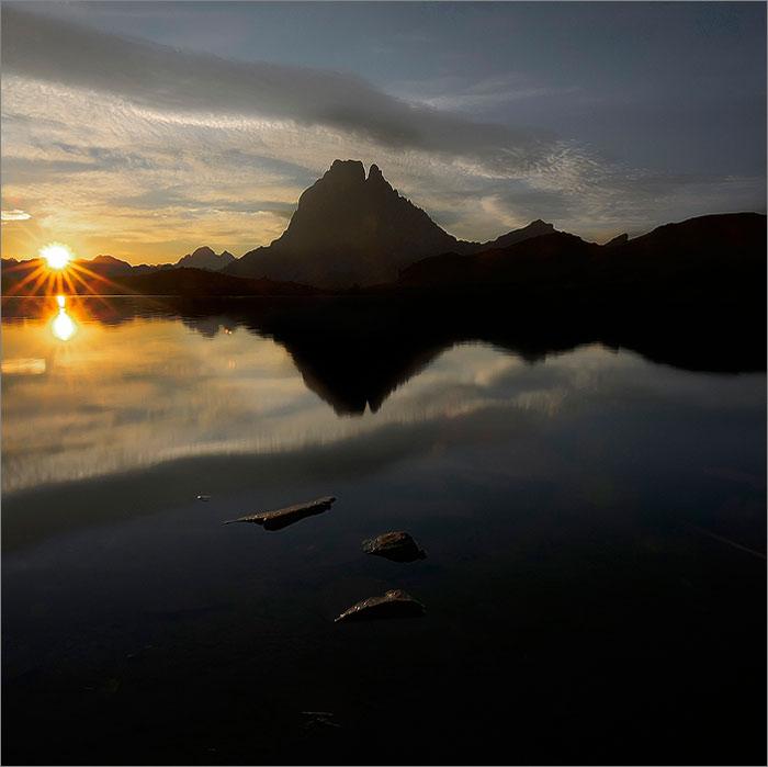 Ayous, amaneciendo en el Midi D´Ossau